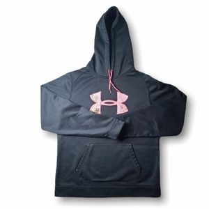 Under Armour Black Pink Camo Cold Gear Hoodie